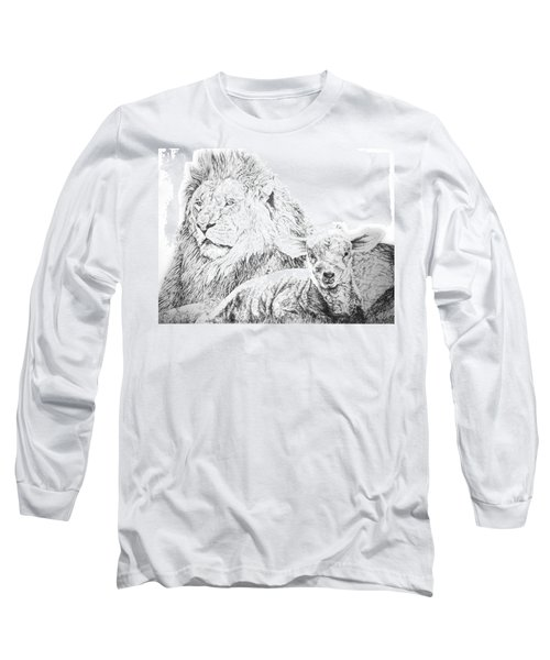 The Lion And The Lamb Long Sleeve T-Shirt by Bryan Bustard