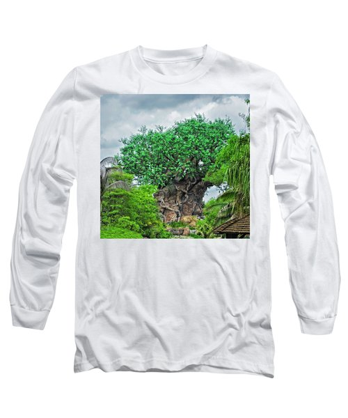 The Living Tree Walt Disney World Mp Long Sleeve T-Shirt by Thomas Woolworth