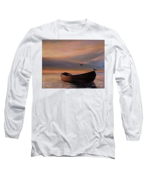 A Lone Boat Long Sleeve T-Shirt