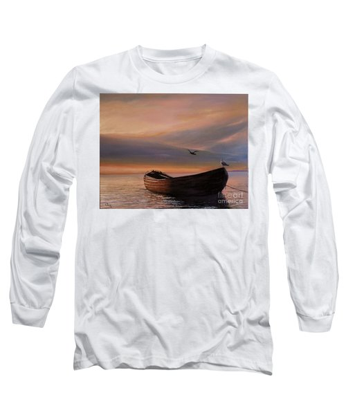 A Lone Boat Long Sleeve T-Shirt