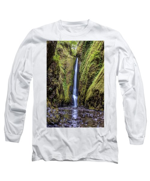 The Lush And Green Lower Oneonta Falls Long Sleeve T-Shirt by Pierre Leclerc Photography