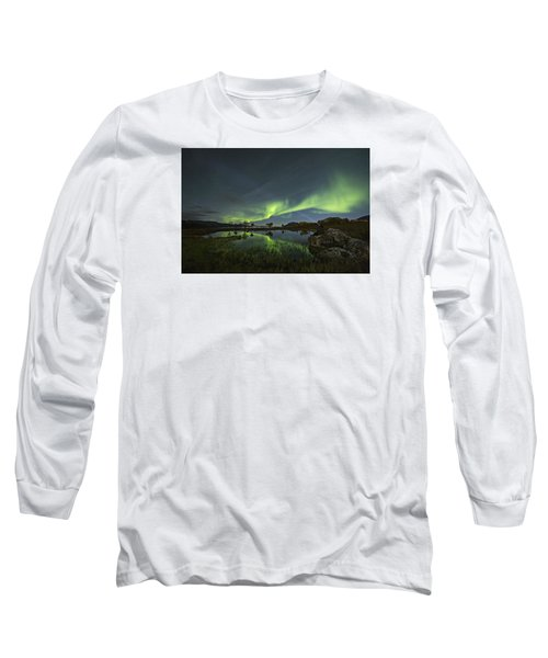 The Man Under The Aurora Sky Long Sleeve T-Shirt