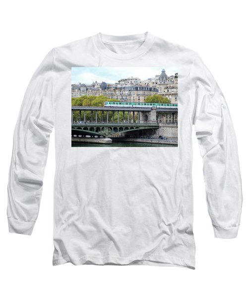 Long Sleeve T-Shirt featuring the photograph The Metro On The Bridge by Yoel Koskas
