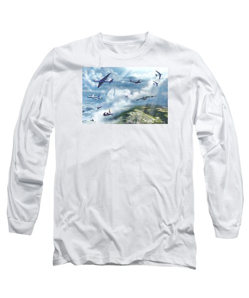 The Mighty Loring A F B Long Sleeve T-Shirt by Dave Luebbert