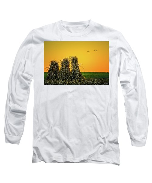 Long Sleeve T-Shirt featuring the photograph The Migration Of Summer by Skip Tribby