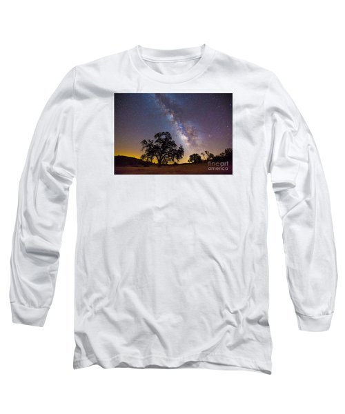The Milky Way And Perseids Long Sleeve T-Shirt