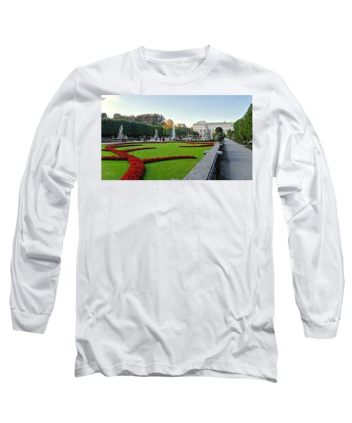 Long Sleeve T-Shirt featuring the photograph The Mirabell Palace In Salzburg by Silvia Bruno