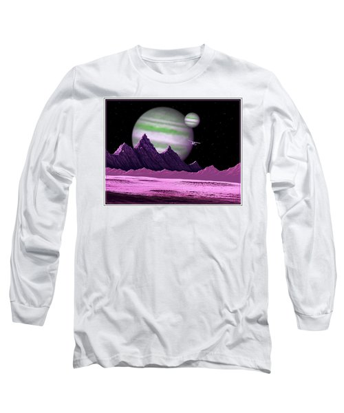 The Moons Of Meepzor Long Sleeve T-Shirt by Scott Ross