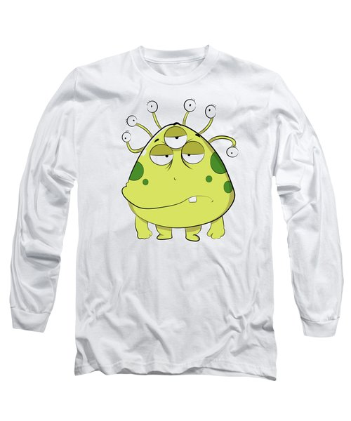 The Most Ugly Alien Ever Empty Background Long Sleeve T-Shirt