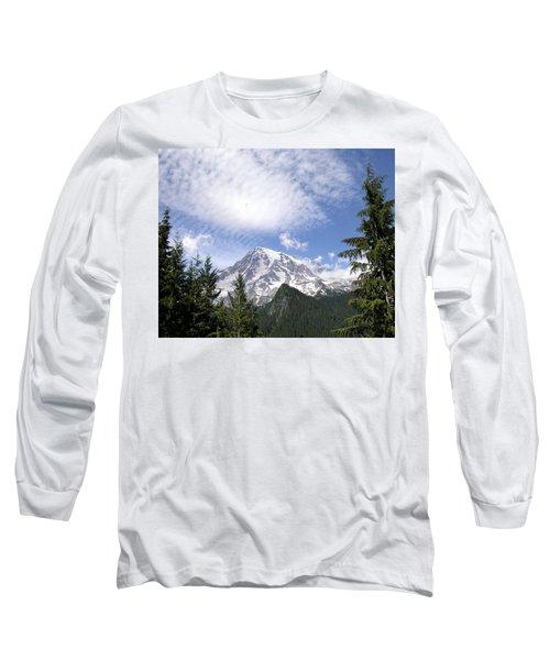 The Mountain  Mt Rainier  Washington Long Sleeve T-Shirt by Michael Bessler