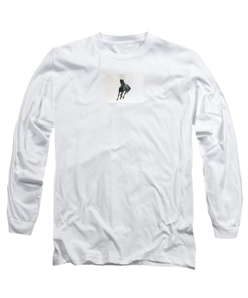 Long Sleeve T-Shirt featuring the painting The Mustang by Ellen Canfield