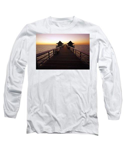 The Naples Pier At Twilight - 01 Long Sleeve T-Shirt
