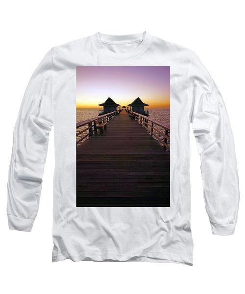 The Naples Pier At Twilight Long Sleeve T-Shirt