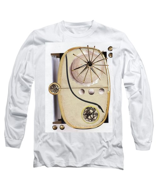 Long Sleeve T-Shirt featuring the painting The Navigator by Michal Mitak Mahgerefteh