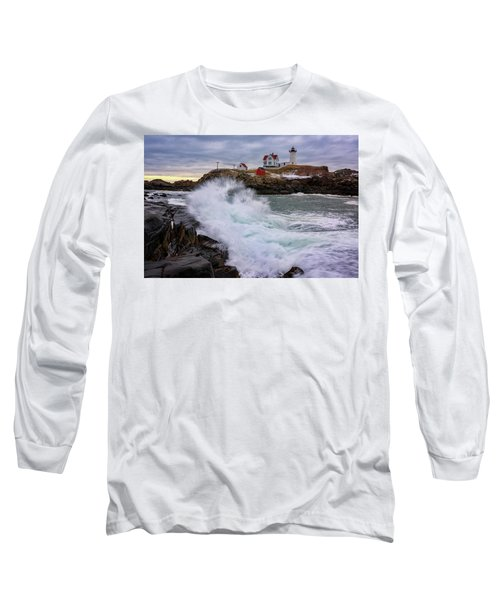 Long Sleeve T-Shirt featuring the photograph The Nubble After A Storm by Rick Berk