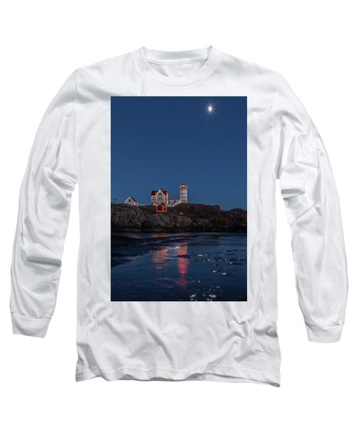 The Nubble Waiting For Snow Long Sleeve T-Shirt