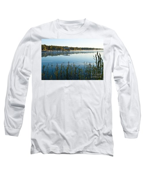 Long Sleeve T-Shirt featuring the photograph The Old Fishing Pier by Tamyra Ayles