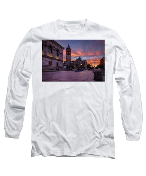The Old South Church At Sunset Long Sleeve T-Shirt