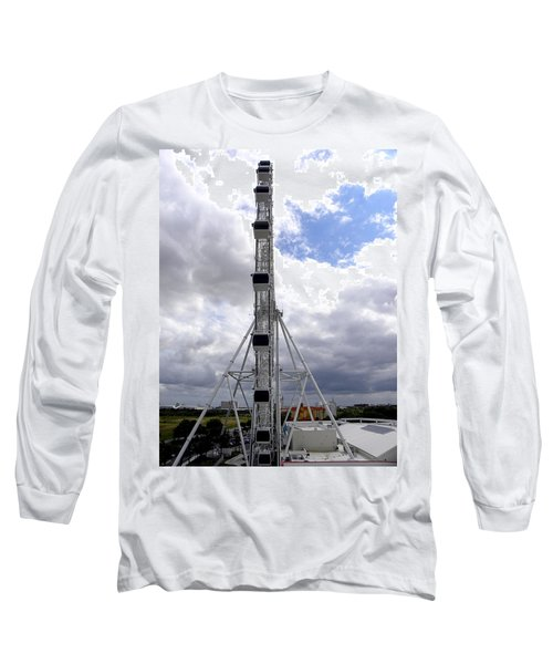 Long Sleeve T-Shirt featuring the photograph The Orlando Eye 003 by Chris Mercer