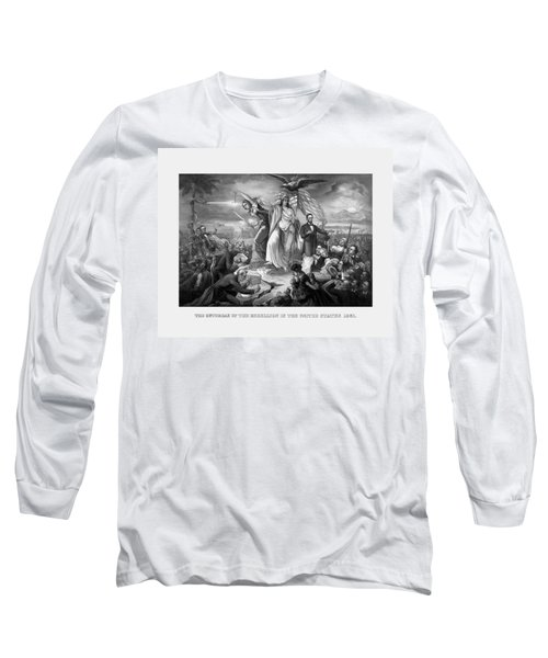 The Outbreak Of The Rebellion In The United States Long Sleeve T-Shirt