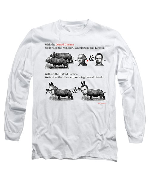The Oxford Comma Long Sleeve T-Shirt by Eric Edelman