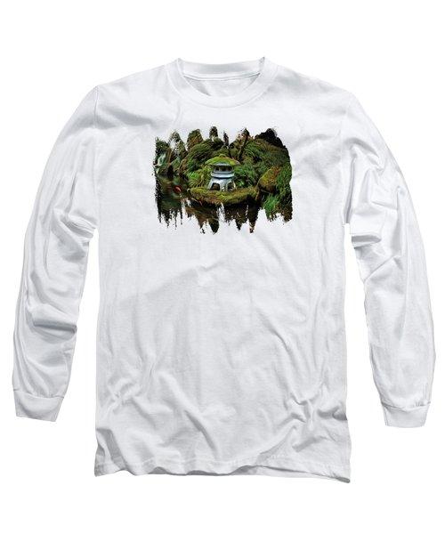 Pagoda And Koi Long Sleeve T-Shirt