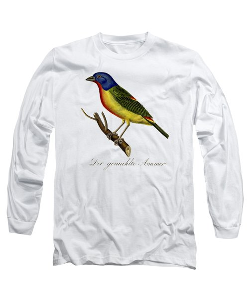 The Painted Bunting Long Sleeve T-Shirt by Unknown