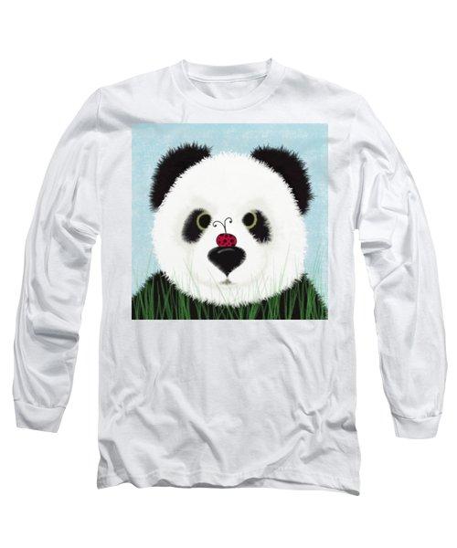 The Panda And His Visitor  Long Sleeve T-Shirt