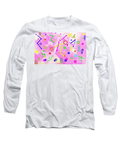 Long Sleeve T-Shirt featuring the digital art The Party Is Here by Silvia Ganora