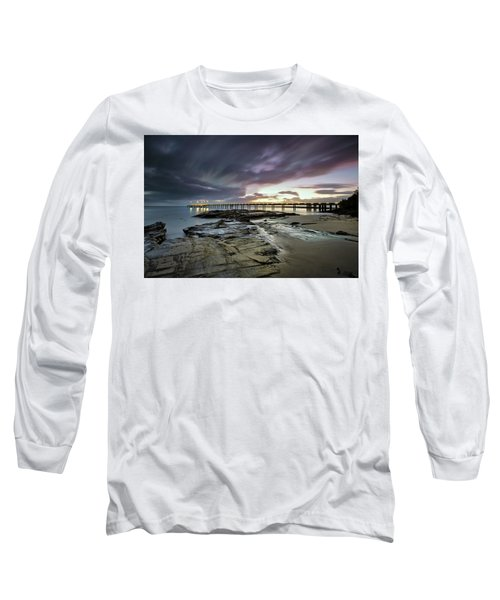 The Pier @ Lorne Long Sleeve T-Shirt by Mark Lucey