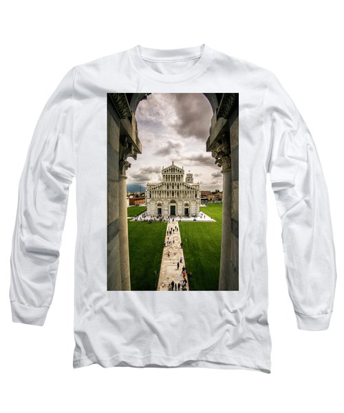 The Pisa Cathedral From The Bapistry Long Sleeve T-Shirt