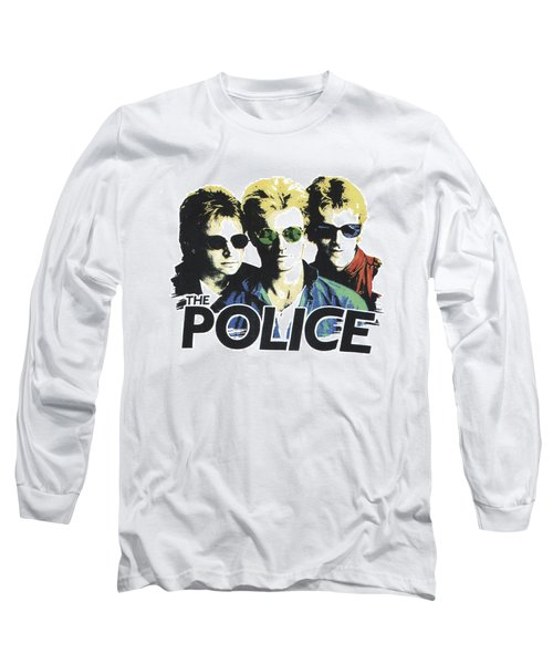 Long Sleeve T-Shirt featuring the digital art The Police by Gina Dsgn