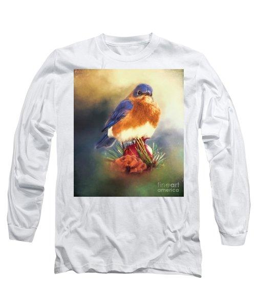 The Pondering Bluebird Long Sleeve T-Shirt