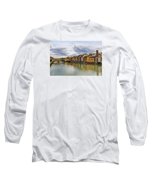 Long Sleeve T-Shirt featuring the photograph The Ponte Vecchio And Florence by Wade Brooks