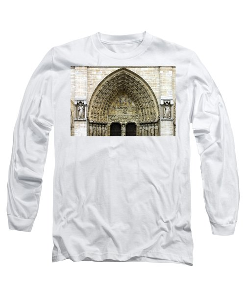 The Portal Of The Last Judgement Of Notre Dame De Paris Long Sleeve T-Shirt