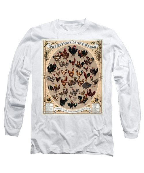 The Poultry Of The World 1868 Long Sleeve T-Shirt