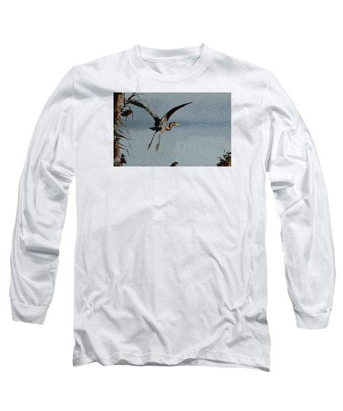 The Purple Heron Long Sleeve T-Shirt