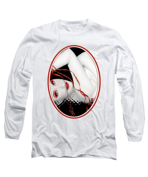 The Red Facade - Self Portrait Long Sleeve T-Shirt