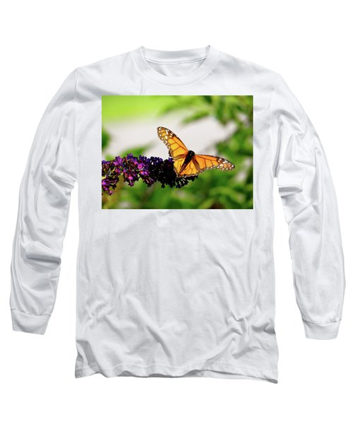 The Resting Monarch Long Sleeve T-Shirt