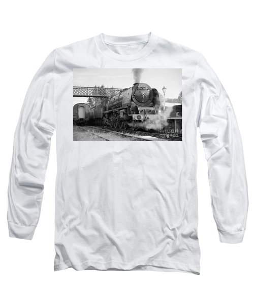 The Royal Scot In Black And White Long Sleeve T-Shirt