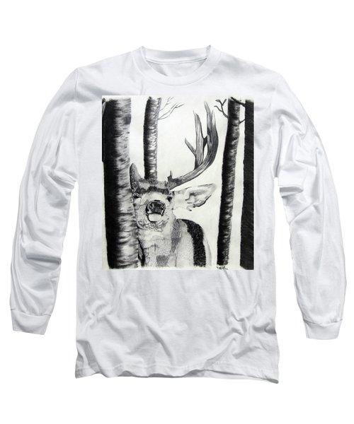 Long Sleeve T-Shirt featuring the drawing The Rutt by Mayhem Mediums
