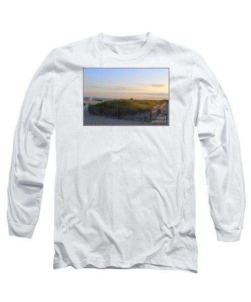The Sand Dunes Of Long Island Long Sleeve T-Shirt by Dora Sofia Caputo Photographic Art and Design