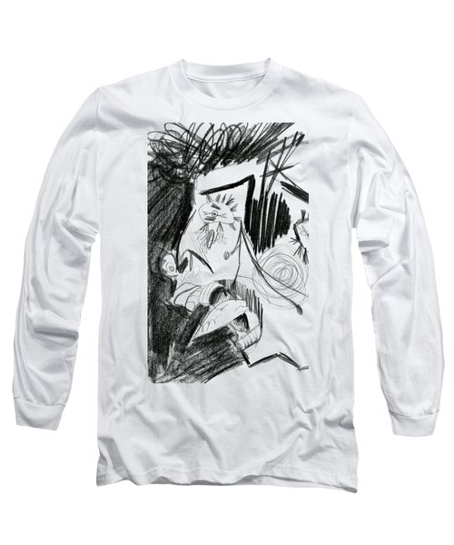 The Scream - Picasso Study Long Sleeve T-Shirt by Michelle Calkins