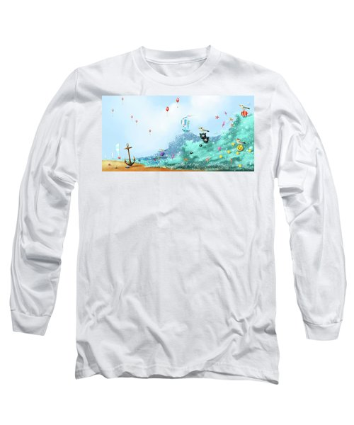 The Seagull's Cup..the Oldest Trophy In The Seafaring Calendar Long Sleeve T-Shirt