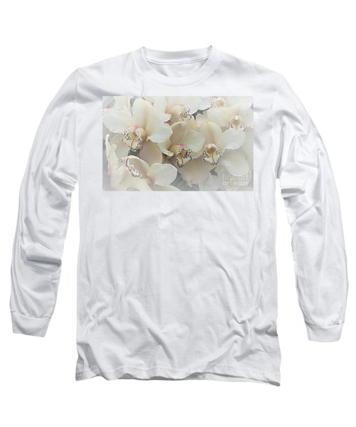 The Secret To Orchids Long Sleeve T-Shirt by Sherry Hallemeier