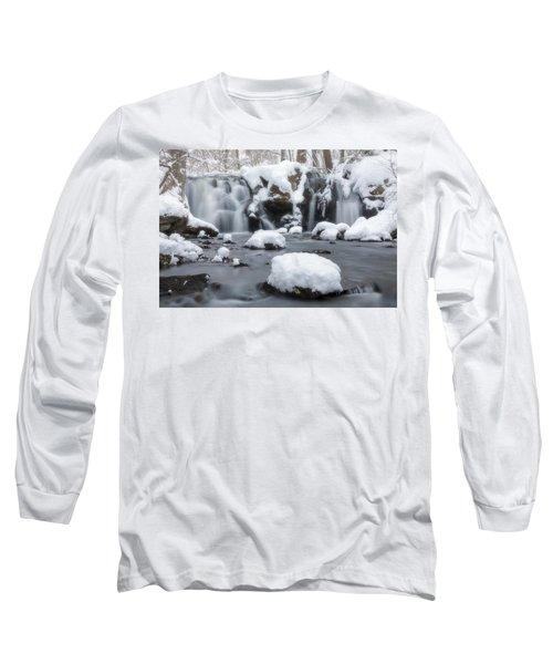 The Secret Waterfall In Winter 1 Long Sleeve T-Shirt