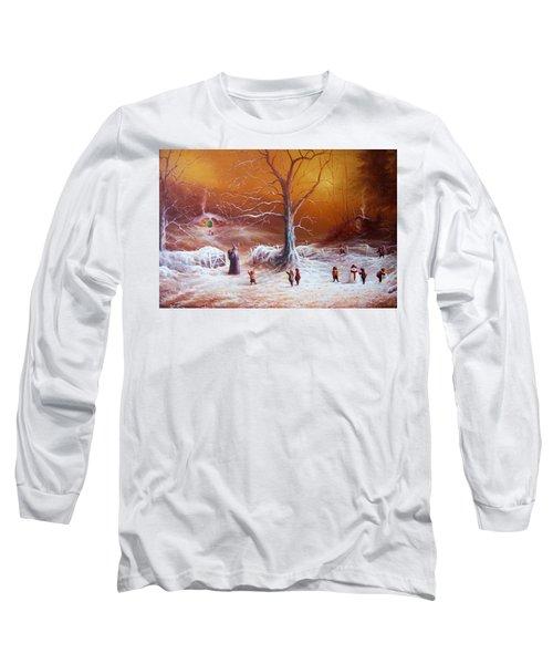 The Shire First Snowfall Long Sleeve T-Shirt by Joe Gilronan