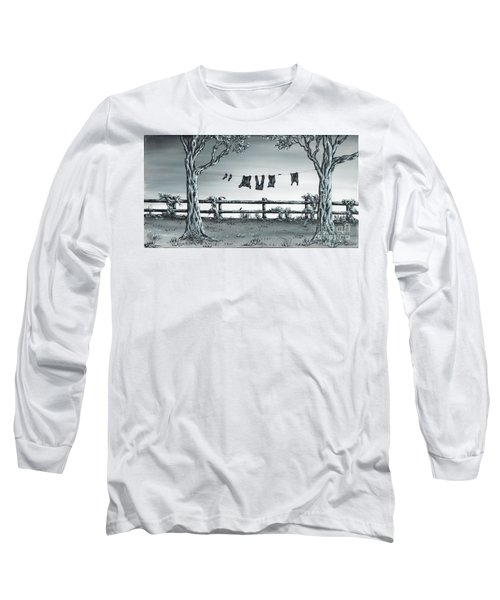 Long Sleeve T-Shirt featuring the painting The Show Off by Kenneth Clarke
