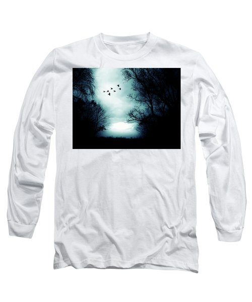 The Skies Hold Many Secrets Known Only To A Few Long Sleeve T-Shirt by Michele Carter