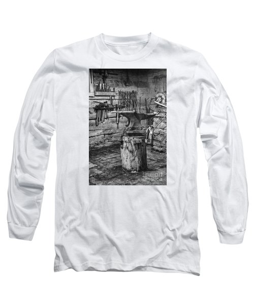Long Sleeve T-Shirt featuring the photograph The Smithy's Work Awaits by William Fields